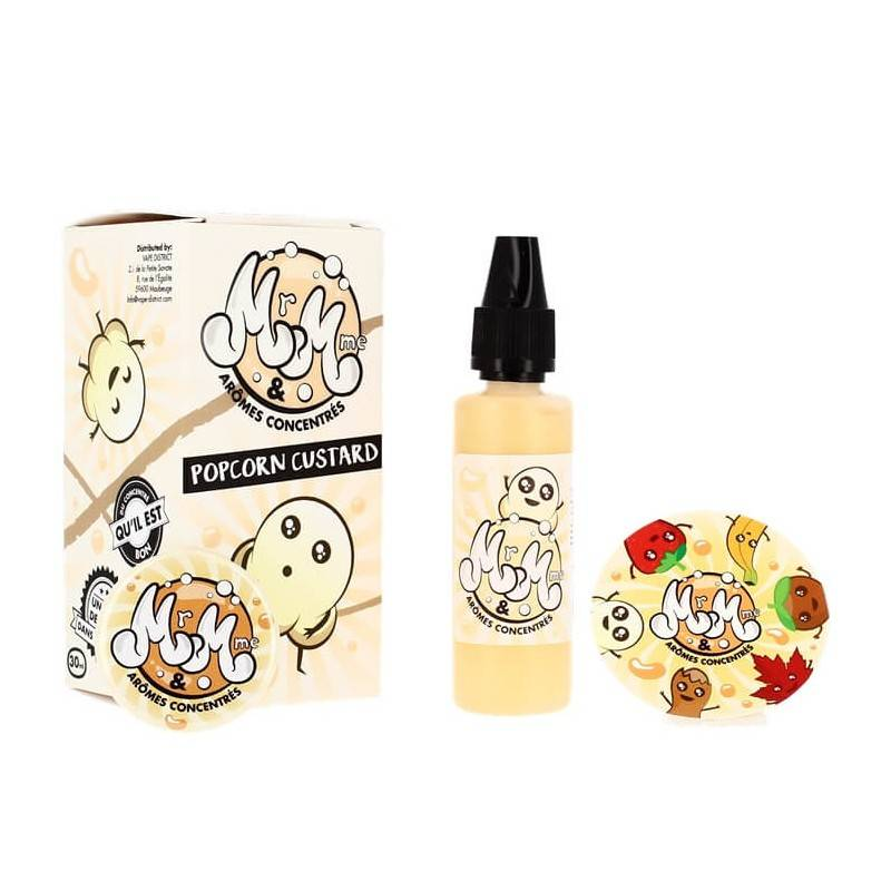Mr & Mme Popcorn Custard - 30 ml